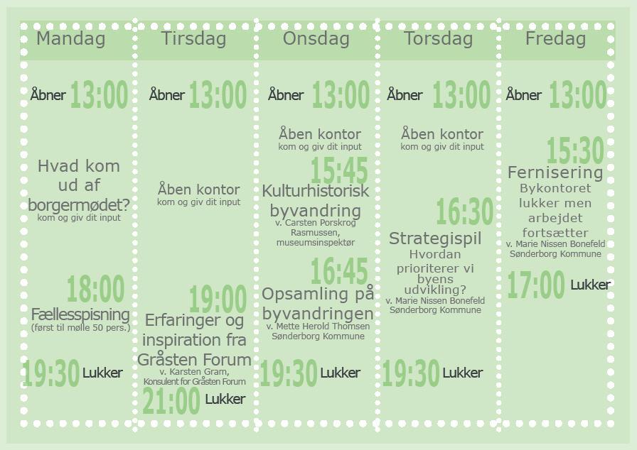 Kalender for Augustenborg Bykontor - uge 4