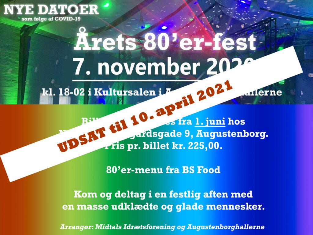 Augustenborghallerne: Årets 80'er-fest (UDSAT)