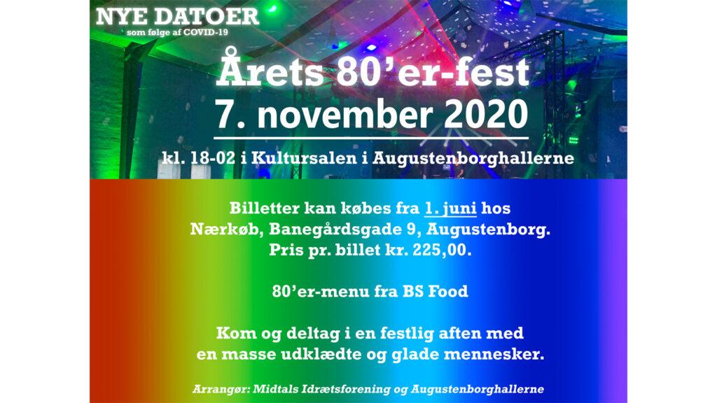 Augustenborghallerne: Årets 80'er-fest