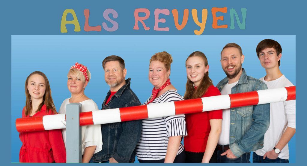 """Kultursalen: Als Revyen 2020 går """"Lige til grænsen"""" (AFLYST!!)"""